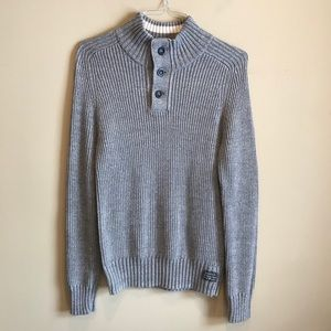 American Eagle cowl neck knit button pullover Med